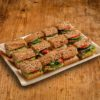 12er Mini Vollkorn Baguette Sandwich Platte VEGAN