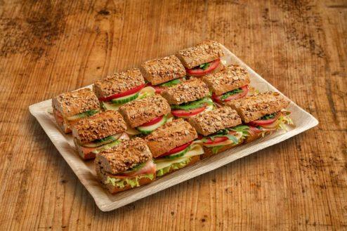 12er Mini Vollkorn Baguette Sandwich Platte PREMIUM