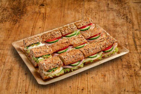 12er Mini Vollkorn Baguette Sandwich Platte